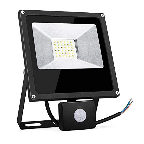 TOPLANET Focos Led 30W Exterior con Sensor Movimiento Foco Proyector LED IP66...