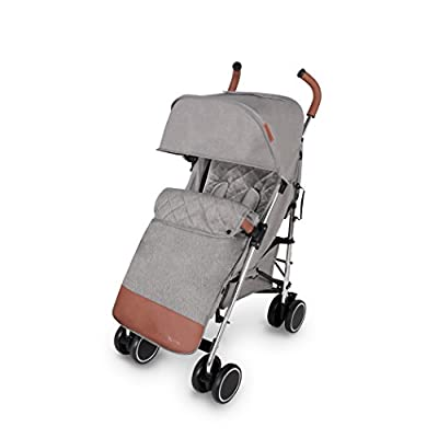 Ickle Bubba Baby Strollers | Lightweight Stroller Pushchair | Compact Fold Technology for Easy Transport and Storage | UPF 50+ Extendable Hood, Footmuff and Rain Cover | Discovery, Grey/Silver