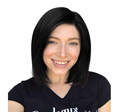 rasilianische indische Perücken 12 Zoll hochwertige Cosplay Perücke für Frauen. Kurzes, schwarzes, gerades, hitzebeständiges Perücken-Fashion-Glamour-Haarteil ()