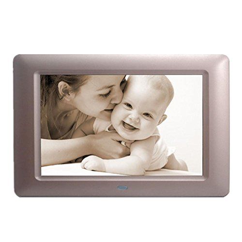 Digitale Bilderrahmen 7 Zoll Digital Photo & HD Video Frame mit Motion Sensor Geschenke am besten (28 * 18CM) , A