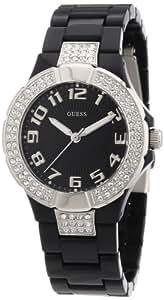 Guess Damen-Armbanduhr XS Analog Quarz Kautschuk W11611L2