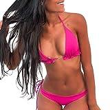 SHJIRsei Costumi da Bagno Donna Bikini Sexy 2019 Costumi Donna Mare Due Pezzi Brasiliana Costumi Interi Donna Taglie Forti Push Up Bikini a Triangolo Estate Moda Vintage Swimwear