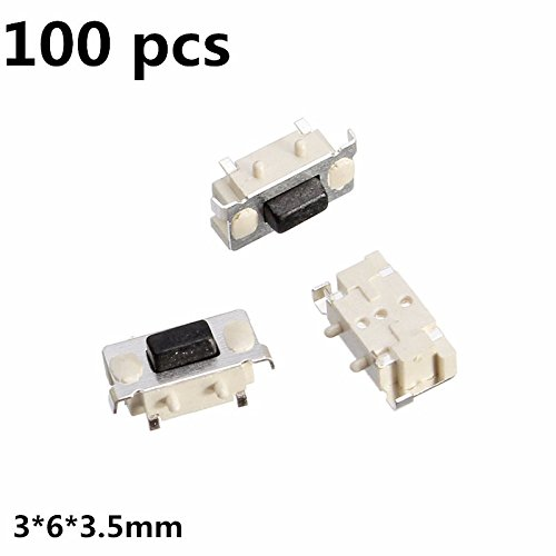 ChaRLes 100Pcs Tact Tactile Push Button Switch SMD SurfacE-mount Momentary - Surface Mount-button