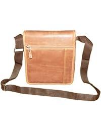 Style98 Premium Quality Leather Travel Messenger/Sling Bag For Men,Women,Boys & Girls - Brown - B01H8YHFS0