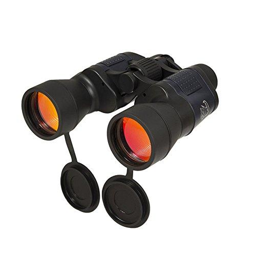 Prismaticos 10x50 impermeable a prueba de niebla con funda de transporte para avistamiento de aves, viajes, caza, turismo, escalada