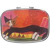 Sharplace Tragbar Tablettenschieber Katze Muster Pillen Aufbewahrungskasten Pillendose -5.5x4.5cm preisvergleich bei billige-tabletten.eu