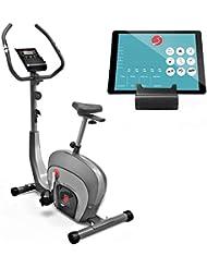 Sportstech ES400 Ergometer Heimtrainer - Smartphone APP Steuerung - 10kg Schwungmasse - Bluetooth - Pulsmesser - Hometrainer mit Magnetbremssystem - Fahrrad-Trainer - Fitness-Bike - Tablethalterung