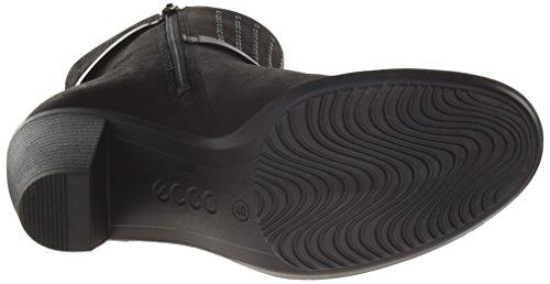 Ecco TOUCH 75B, Stivali altezza metà polpaccio Donna Nero (Schwarz (BLACK/BLACK 51052)