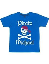 De calavera y tibias' personalizada para niños diseño de piratas T-shirts de diversión en la feria