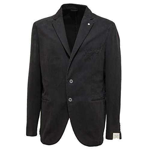 7049L giacca uomo grigia L.B.M. 1911 slim giacche jackets coats men [56 R]