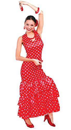 Tänzerin Flamenco Kostüm - spanische Flamenco Tänzerin - Kostüm für Damen Gr. M - L, Größe:L