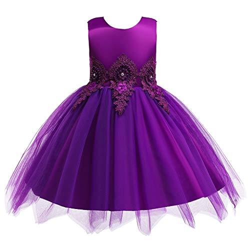 jerferr Prinzessin Kleid Damen Ärmellose Blumen bestickte Tüll Prinzessin Prom Kleid Kleidung