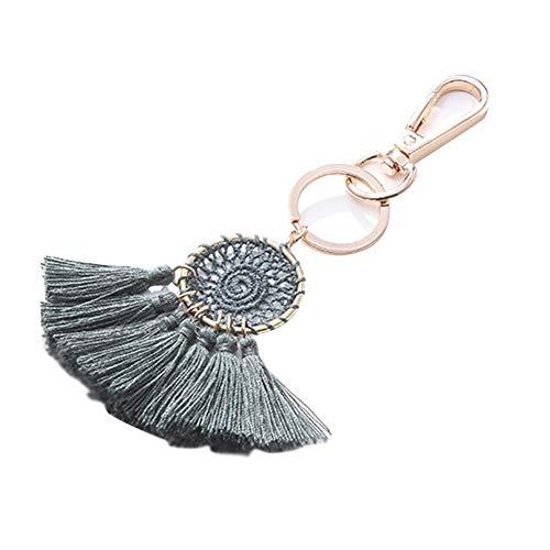 Emorias 1PC Schlüsselanhänger Taschenanhänger Mode Quaste Traumfang Anhänger Schlüsselbund Auto Keys Anhänger Geschenk (Grün)