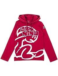ce1adbc85 El Niño - Camiseta de Manga Larga con Logo para niños - Rojo