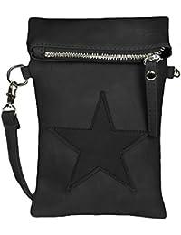Mevina Damen kleine Stern Clutch Leder-Optik Tasche Umhängetasche Schultertasche viele Farben – 14x21x3 cm (B x H x T)