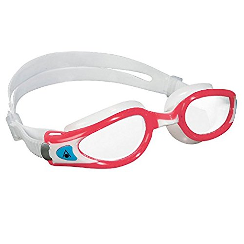 Aqua Sphere Kaiman EXO Lady Schwimmbrille–Made in Italy Small Clear Lens/Red and White