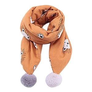 Da.Wa 1X niños Bufanda de Moda Felpa León marrón Lazo de Corbata pañuelo de Bufanda 147 * 11cm 9