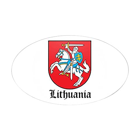 CafePress - Lithuanian Coat Of Arms Seal Oval Sticker - Oval Bumper Sticker Car Decal