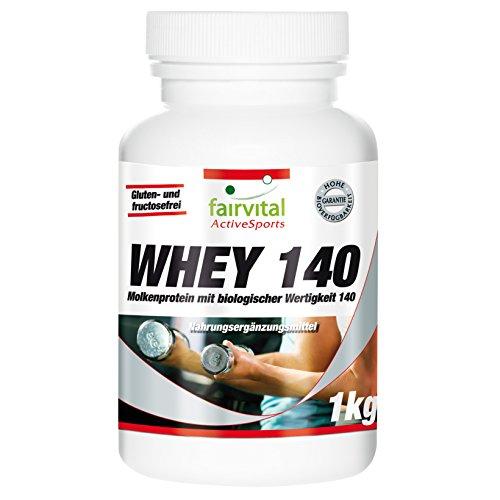 Whey 140 - für 2 Monate - biologische Wertigkeit 140-1kg - Molkenprotein ohne Zuckerzusatz