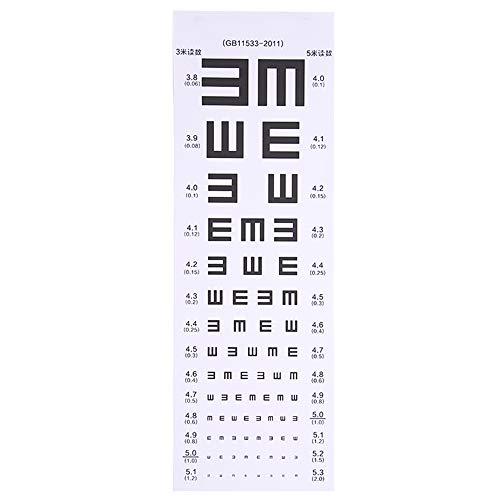 LL Posture Corrector Vision Chart PVC International Standard Logarithmische E Wort Inspektion Augenkarte -