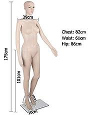 WEBBOON Women's Straight Full Body Mannequin Display Dummy (Skin)