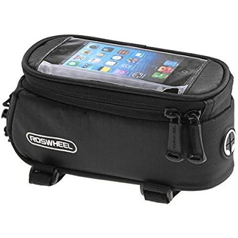 MaMaison007 ROSWHEEL bicicletas móvil táctil pantalla bolsa tubo bolsa - negro-M