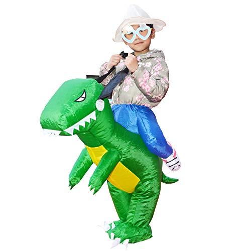 CQY Aufblasbares Kostüm Huckepack Dinosaurier T-Rex Cosplay für Fasching Erwachsene Kinder Optional DREI Größen ()