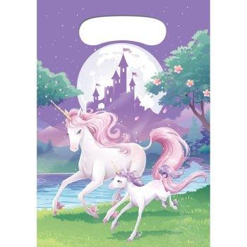 8 Sacs cadeaux Licorne magique 22 x16 cm 0039938206352