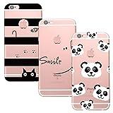ChoosEU 3X Coque iPhone 6 Plus/iPhone 6S Plus Transparente Silicone Bumper Souple...