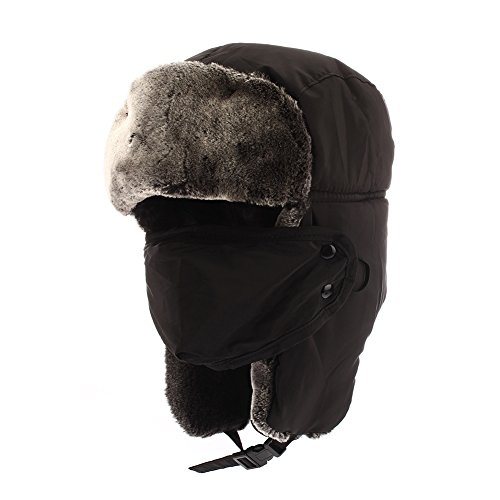 Colleer Winter Unisex Bomber Hats Trooper Trapper Hunting Hats Ushanka  Russian Ear Flaps Chin Strap with a94ed2f12480