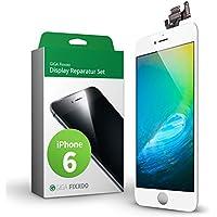 GIGA Fixxoo iPhone 6 Komplettes Display Ersatz Set Weiß, LCD mit TouchScreen, Retina Display, Kamera & Näherungssensor - Einfache Installation für Do-It-Yourself