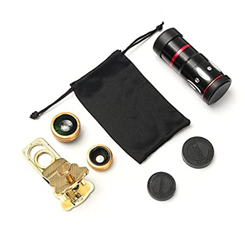 MASUNN Universal 10X Zoom Clip On Mobile Phone Optical Camera Lens Telephoto Telescope