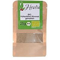 Condimento Herbs Hestia Comino Molido Organico Hierbas Especias 100% Sin Aditivos - Alcaravea Aroma fresco y sabor increíble - Bolsa Resellable, 25g