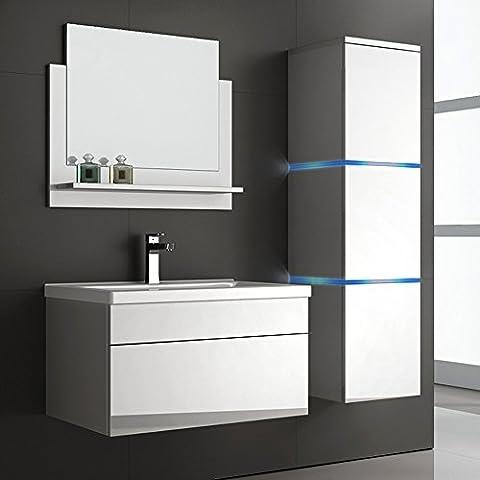 Home Deluxe   Badmöbel-Set   Wangerooge   weiß   inkl. Waschbecken und komplettem Zubehör