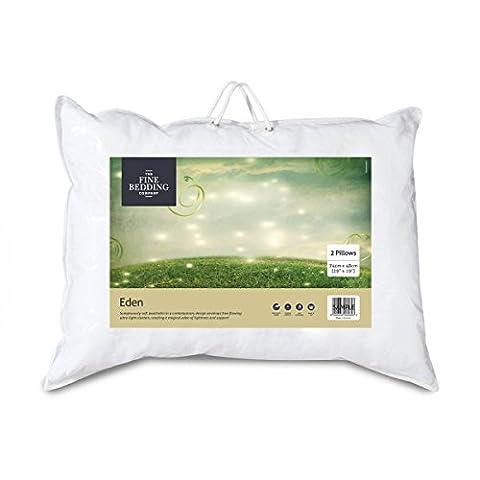 The Fine Bedding Company Luxury Eden Non-Allergenic Smartfil Microfibre Pillows - Set of 2