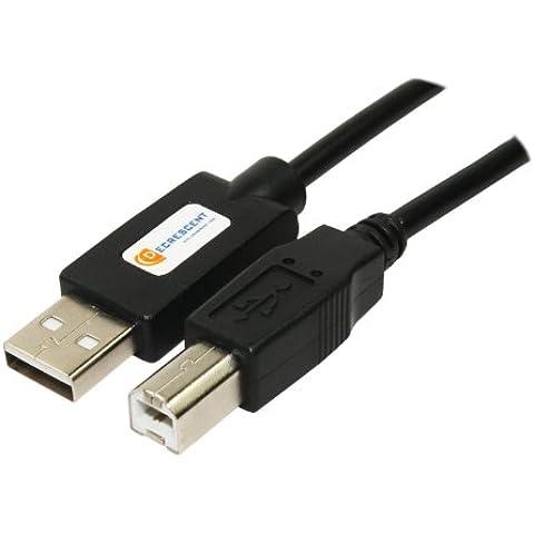 Decrescent Cavo USB per stampante adatto per TUTTE le stampanti e i fax Brother DCP Toner - Si veda la descrizione per controllare la compatibilità: Inclusi - HLP-2000 HLP-2500 2550ML 2600 2750 3550 3650 3750 - 5m