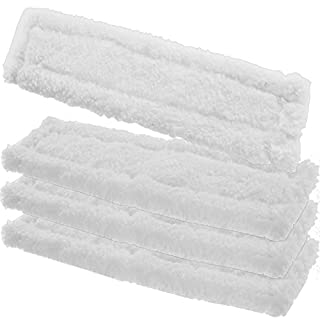 SPARES2GO Spray Bottle Glass Cleaner Pads for Karcher WV5 Premium Window Vac Vacuum (Pack of 4)