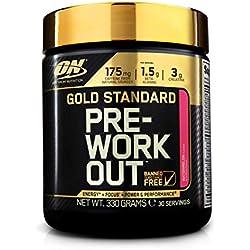 Optimum Nutrition ON Gold Standard Pre Workout en Polvo con Creatina Monohidrato, Beta Alanina, Cafeína, Citrulina y Vitamina B, Sandía, 30 Porciones, 330 gr
