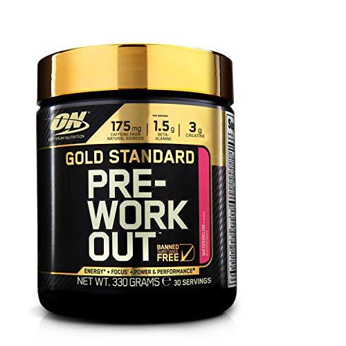 Optimum Nutrition ON Gold Standard Pre Workout en Polvo con Creatina Monohidrato, Beta...