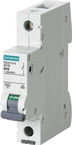 Siemens 5sl6-Disjoncteur Automatique magnétothermique 230/400V 6kA 1pôle C-16A