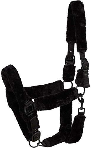 Horse Guard Halfter mit schwarzem Kunstfell für Pferde - Kaltblut