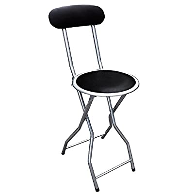 1X Folding Kitchen Breakfast Bar Stools Barstool OFFICE KITCHEN Chairs Seat Retro - low-cost UK light shop.