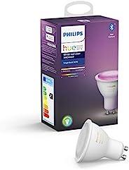 Philips Hue Bombilla Inteligente LED GU10, con Bluetooth, Luz Blanca y Color, Compatible con Alexa y Google Ho