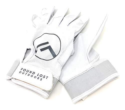 Found Lost Outdoors SCL1 Handschuhe, 100% nahtlos, Leder, weiß, Medium