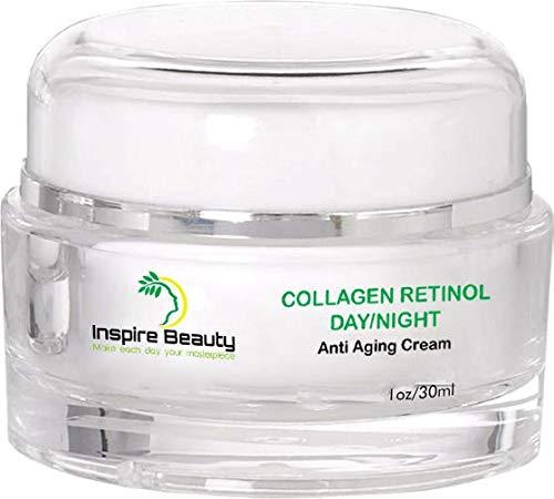 Kollagen Retinol Tag/Nacht Anti-Aging-Creme-30ml-reduziert Falten, verjüngende und straffende Anti-Aging-Creme, beste Augencreme mit Matrixyl 3000-110% Geld-zurück-Garantie.