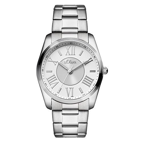 s.Oliver Damen-Armbanduhr Analog Quarz SO-15116-MQR