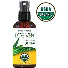 Aloe vera orgánico de la USDA por siete minerales – 100% puro aloe orgánico,