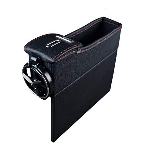 sunnymi Auto Aufbewahrungskiste Multi-Funktion Sitzschlitz Ersetzen Box Lederbox (D) -