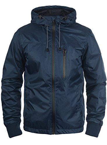 Blend Rudy Herren Windbreaker Regenjacke Übergangsjacke Mit Kapuze, Größe:L, Farbe:Navy (70230)