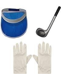 Women's Golf Poker Sun Visor Hats, Inflatable Club, Gloves Fancy Dress